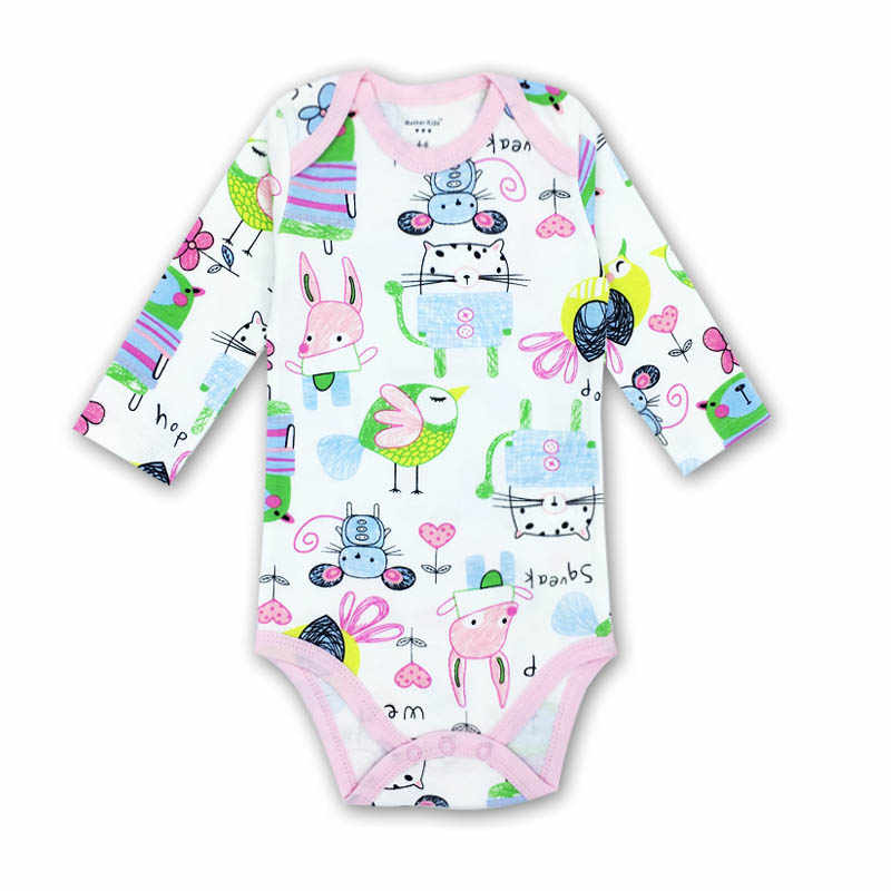146c4eff87c8 Baby Romper Long Sleeves Cotton Newborn Baby Girl Boy Clothes Cartoon  Printed Baby Clothing Set 0