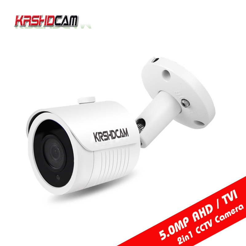 KRSHDCAM 5.0MP AHD/TVI Camera 4 in 1 bullet Waterproof IP66 Outdoor Night Vision CCTV Security cameras de seguranca hd ahd cvi tvi cvbs bullet camera with alarm speaker waterproof ip67 hd 1080p 4 in 1 security camera outdoor night vision ir 20m