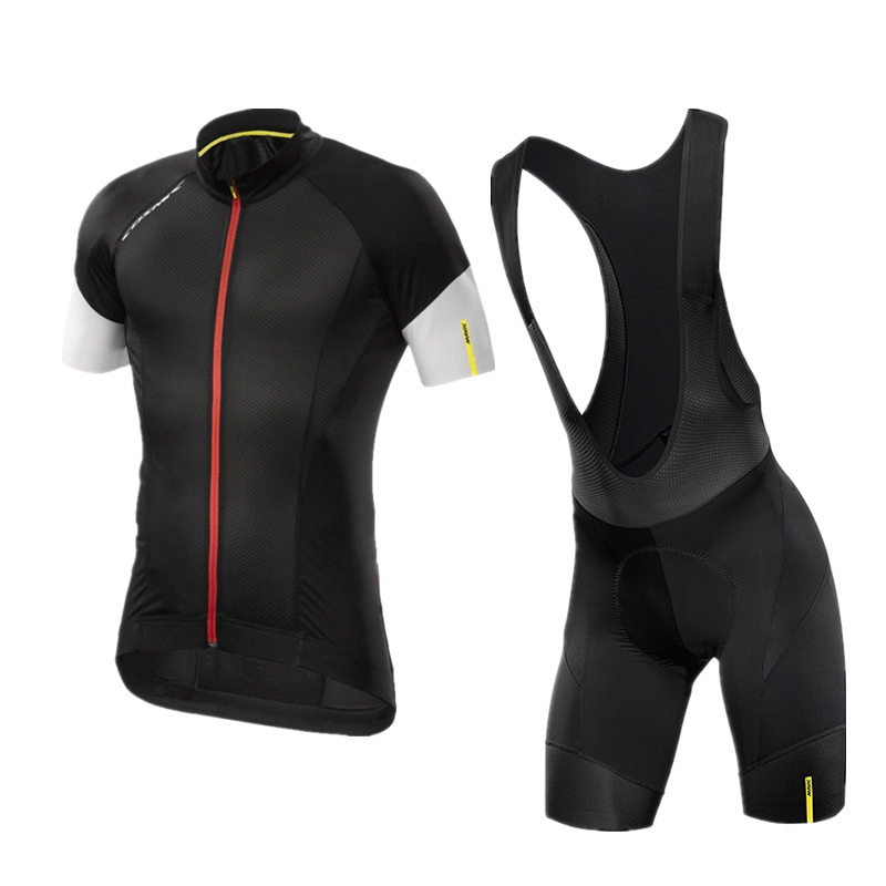 Mavic Summer Cycling Jersey 3D Gel Pad Bibs Shorts Ropa Ciclismo Quick Dry Pro Cycling Clothing Mens Summer Bicycle Maillot Suit
