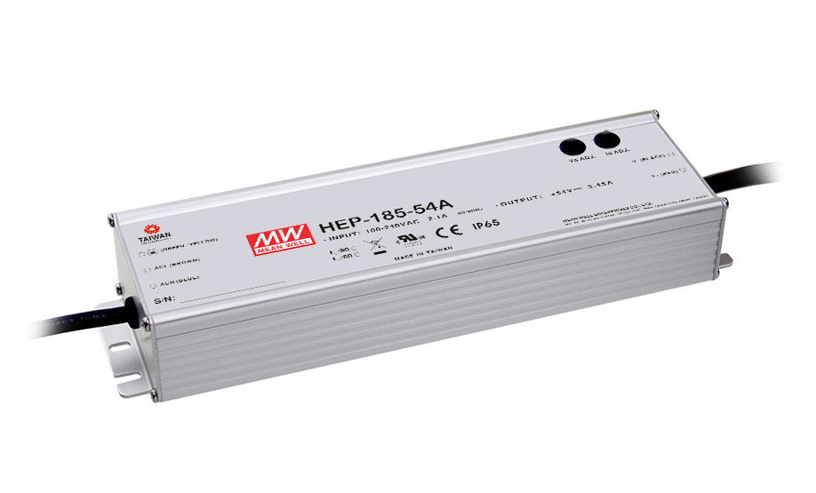 MEAN WELL original HEP-185-54 54V 3.45A meanwell HEP-185 54V 186.3W Single Output Switching Power Supply 1mean well original hep 320 54a 54v 5 95a meanwell hep 320 54v 321 3w single output switching power supply