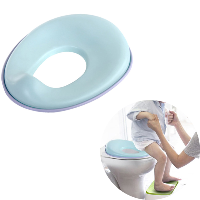 Potty Training Seat Portable Toilet Seat for Boys and Girls Non-Slip with Splash Guard Includes Free Storage Hook toilet seat