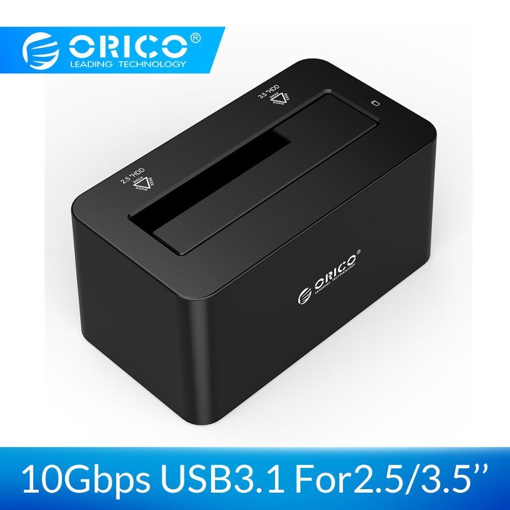 ORICO HDD Station d'accueil SATA à USB C 3.1 Gen2 adaptateur pour 2.5 3.5