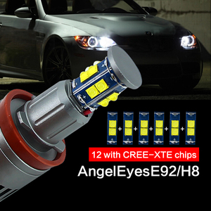 Image 4 - 1 Set 2*120 واط 240 واط H8 مصابيح LED عيون ماركر XTE 4800LM الأبيض 6500 كيلو لسيارات BMW E90 E92 X5 E71 X6 E82 M3 E60 E70 الأبيض 12 فولت