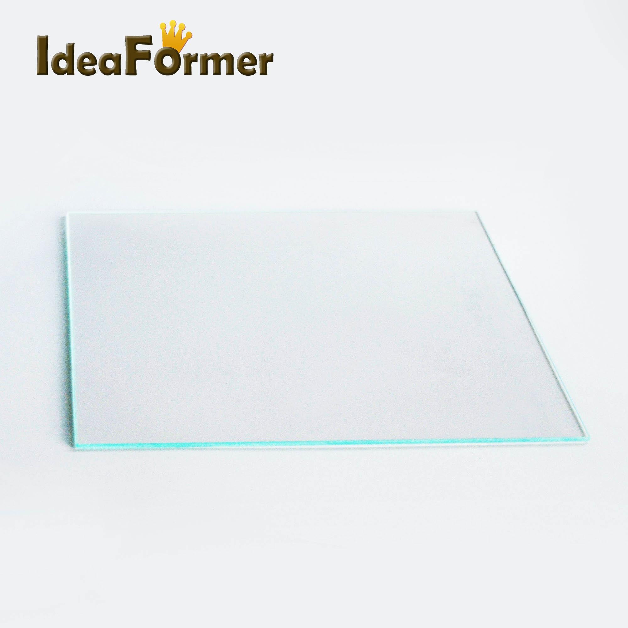 Reprap MK2 Heat Bed Borosilicate Glass Plate tempered glass in good quality 3D Printer parts clean and clear borosilicate glass heat bed 220x220x3mm for mk2 mk2a anet a8 a6 mendel reprap 3d printer