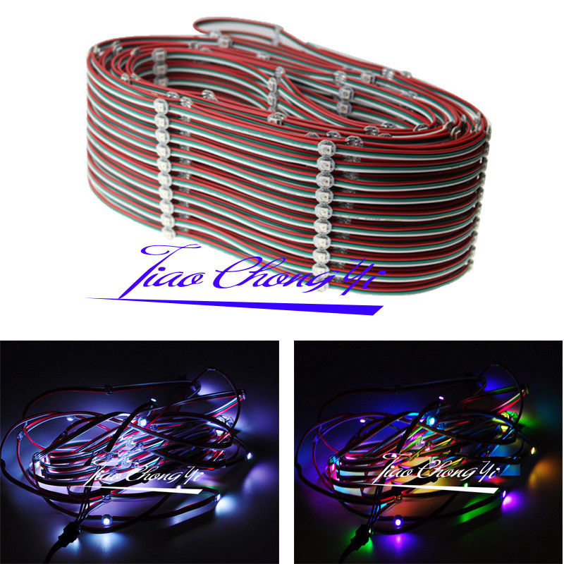 50-1000X WS2812B led pixel module String Light Full Color RGB with 10cm wire 5V