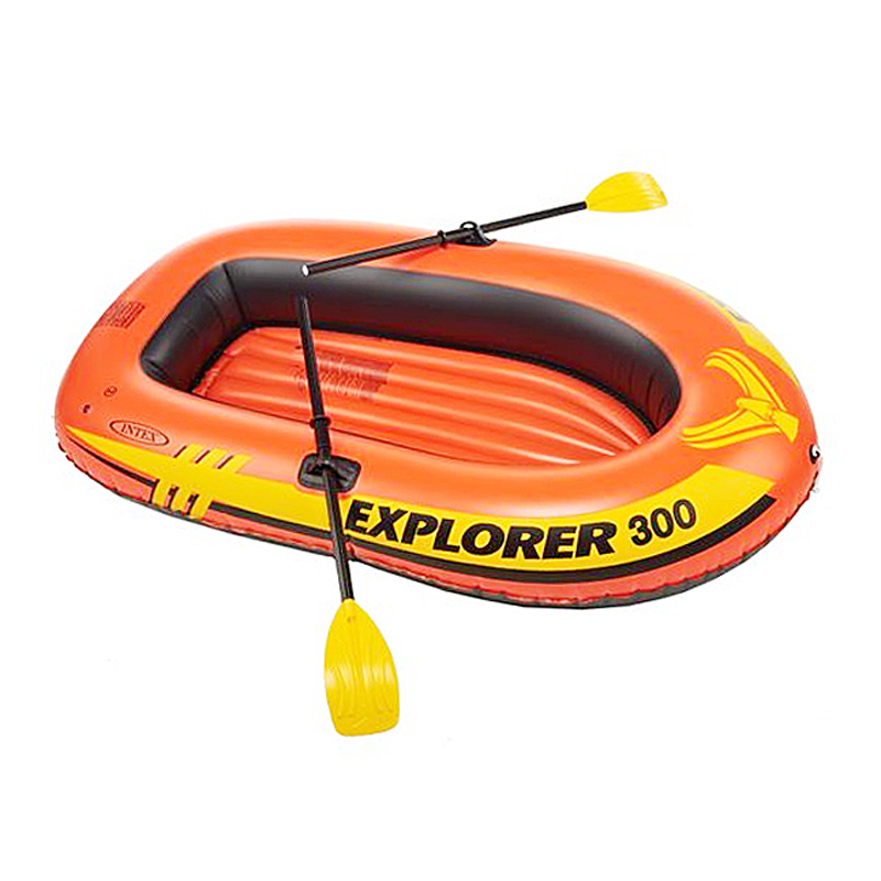 Egoes Explorer 200, 2 Person Inflatable Boat Set with French Oars and Mini Air Pump 58331