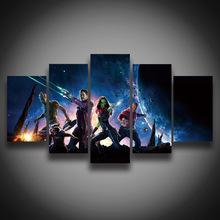 unframed HD Printed movie Guardians of the Galaxy painting on canvas 5panels wall decor Canvas art print poster living room deco