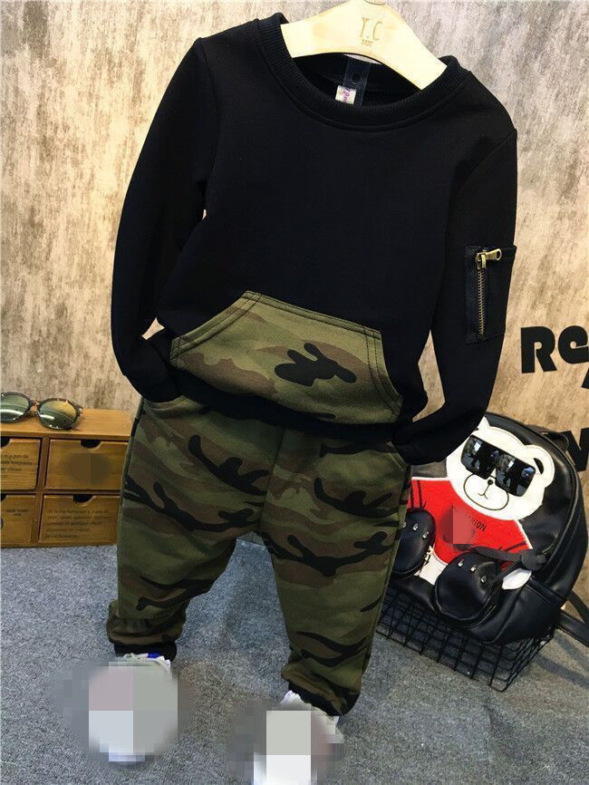 df5459f70d2b2 Aliexpress.com : Buy 2018 New Spring Autumn Winter 2pcs/Set Baby Cute Boys  Long Sleeve Camouflage Tops+Pants Clothing Set Kids Casual Outfits Set from  ...