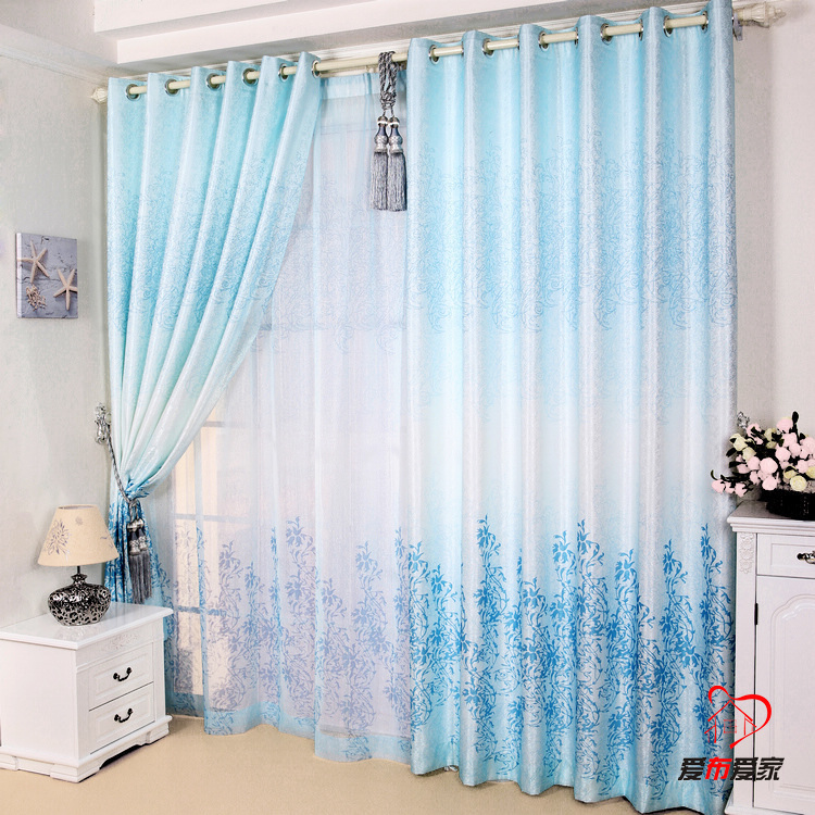 Rustic Style Window Curtains Anti Uv Curtain Finished Product Style Blue  Bedroom Window Curtain Tulle Set In Curtains From Home U0026 Garden On  Aliexpress.com ...