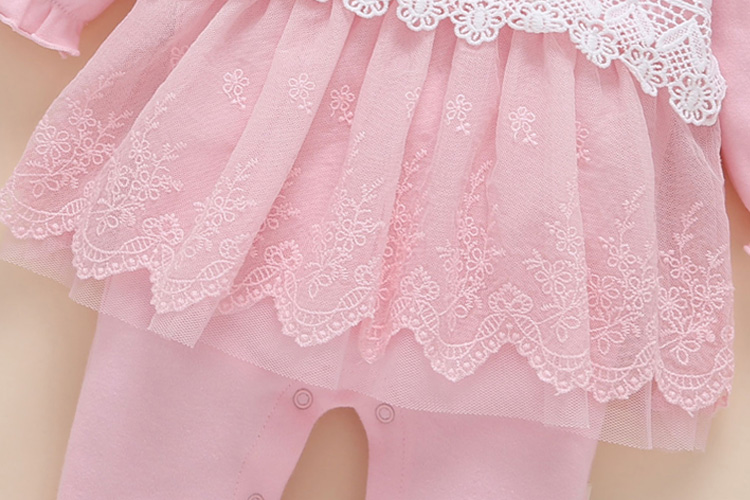43229f63eaf7d ... new born baby clothes long sleeved princess baby girl romper autumn  spring lace children jumpsuit+