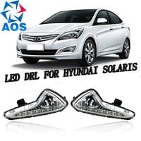 2PCs Set Car Styling LED Car DRL Daytime Running Lights Car Drl Light Set For Hyundai