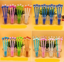 48 unids/lote bolígrafo de gel con dibujos unicornio puntada alpaca leopardo helado kawaii estudiante Premio signo lápiz de papelería creativa