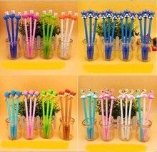48pcs/lot cartoon gel pen stitch unicorn alpaca leopard ice cream kawaii student study prize sign pen creative stationery