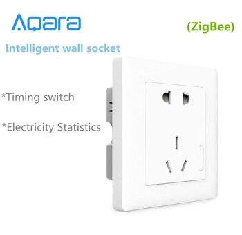 Nouveau Xiaomi Aqara prise murale intelligente, ZigBee wifi télécommande sans fil interrupteur fonctionne pour Xiaomi kits maison intelligente APP|work work|socket smart|socket wifi -