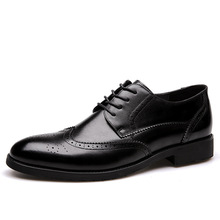 2018 Men Formal Shoe Flats Oxford Shoes For Men Oxfords Pointed Toe Lace Up Leather Dress Business Shoes Wedding Shoes new leather shoes men s flats oxfords shoes fashion design men causal shoes lace up leather shoes for men sneaker oxford