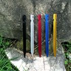 200pcs 18cm Tent Peg Nail Aluminium Alloy Stake Camping Equipment Outdoor Traveling Tent Building Beach Tent Pegs Bail