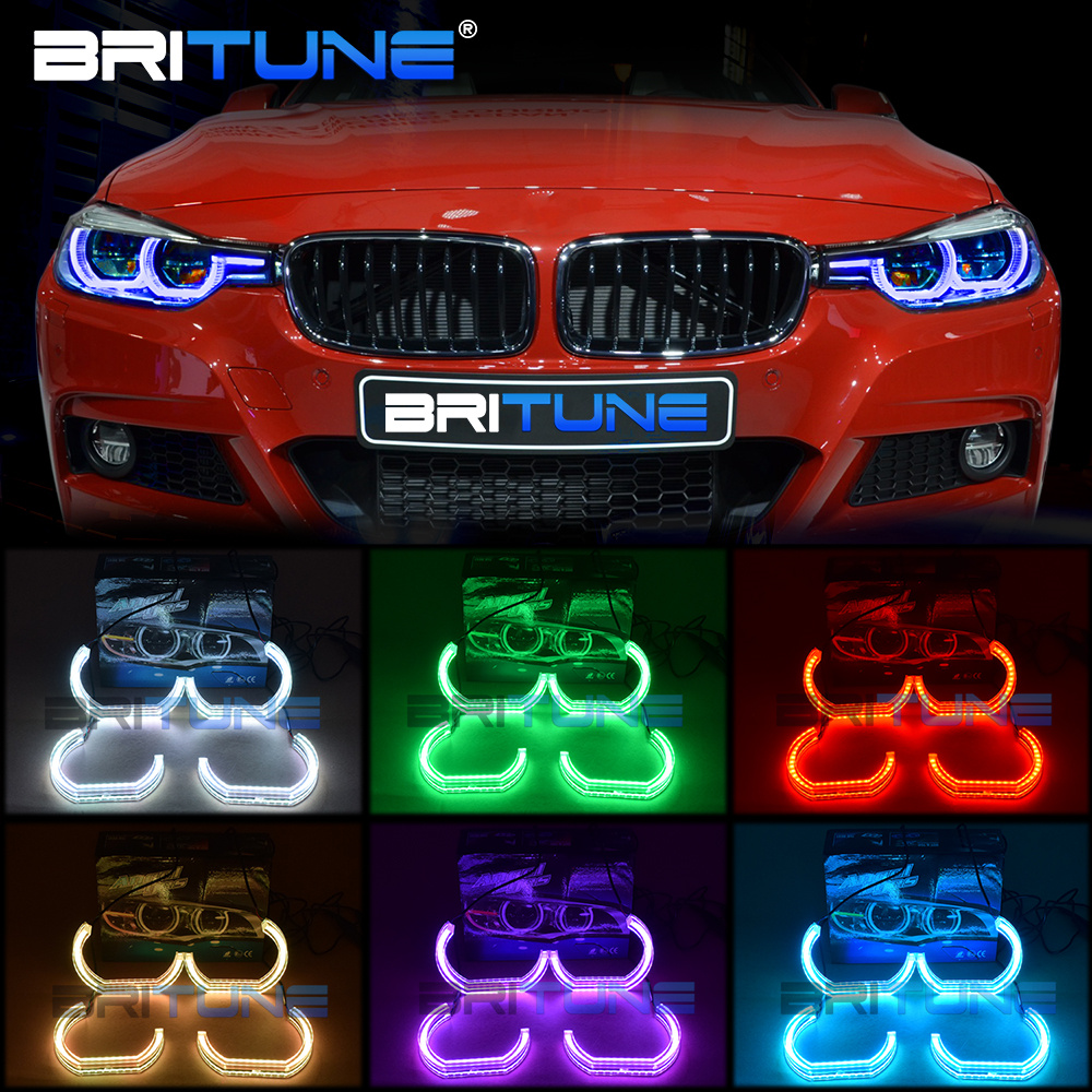 RGB Angel Eyes Kit For BMW E90 E60 E91 F30 E92 E88 E87 E82 E93 Car Lights Accessories LED Halos Mulit-Color DTM Style DRL Tuning