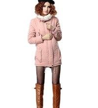 Новый Утолщение Теплый Ягнят Длинные Женщины Зимнее Пальто Куртка Женская Мода Плюс Размер S-XL Твердые Куртка Куртка Шинель