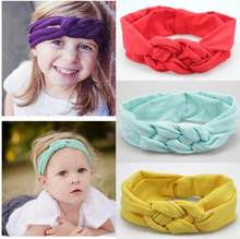 Newborn Knot Headbands 6pcs/set Girls Elastic Hair Band Kids Cotton Ring Hair Accessories Newborn Turban Wrap Headband T009(China)