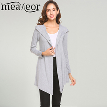 Meaneor Women Long Sleeve Single Button Irregular Slim Fit Casual Hooded Cardigan 2018 Spring New Ladies Outwear Coats Cardigan