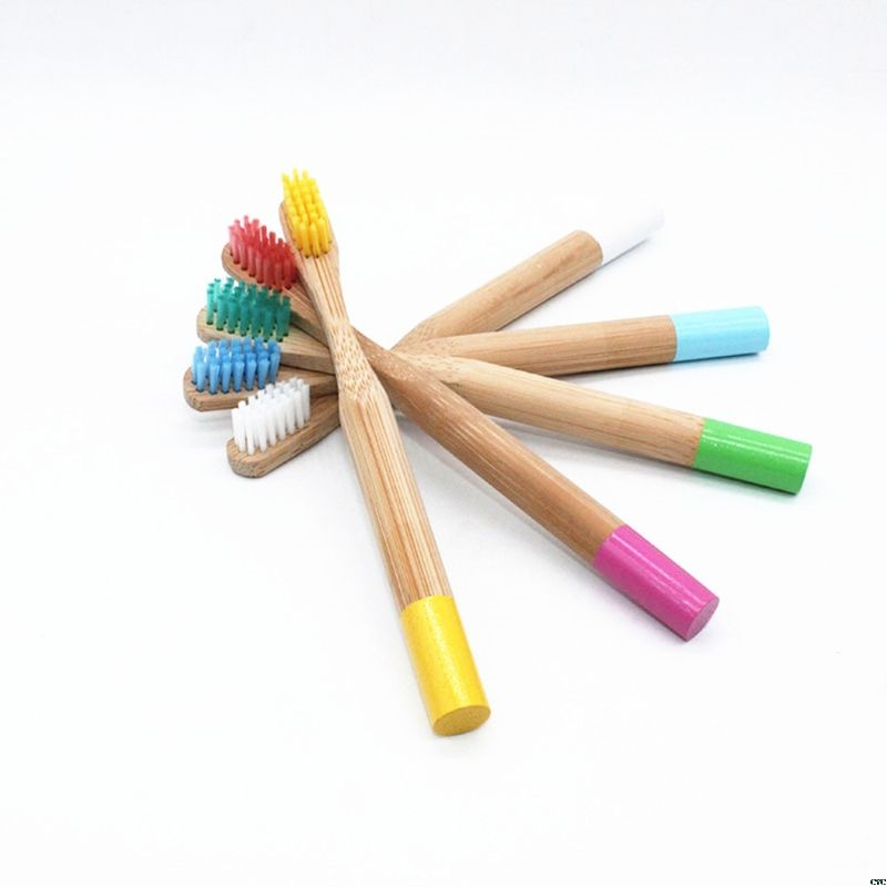 5 Colors Eco-friendly Bamboo Toothbrush Soft Bristle Child Toothbrush Anti Bacterial Oral Care image
