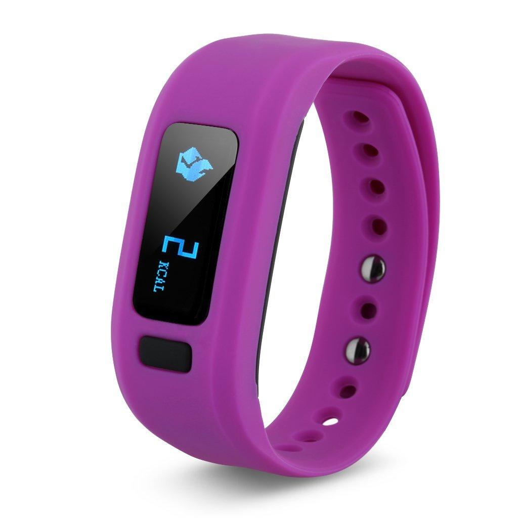 movement Pedometer Sleep monitoring Bluetooth intelligent wristband purple