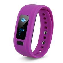 Движение шагомер мониторинг сна Bluetooth умный Браслет (фиолетовый)