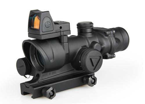 2019 NEW ARRIVAL Mini Reflex Red Dot Scope ACOG 4x32 LED Scope Tactical Airsoft 1-0259