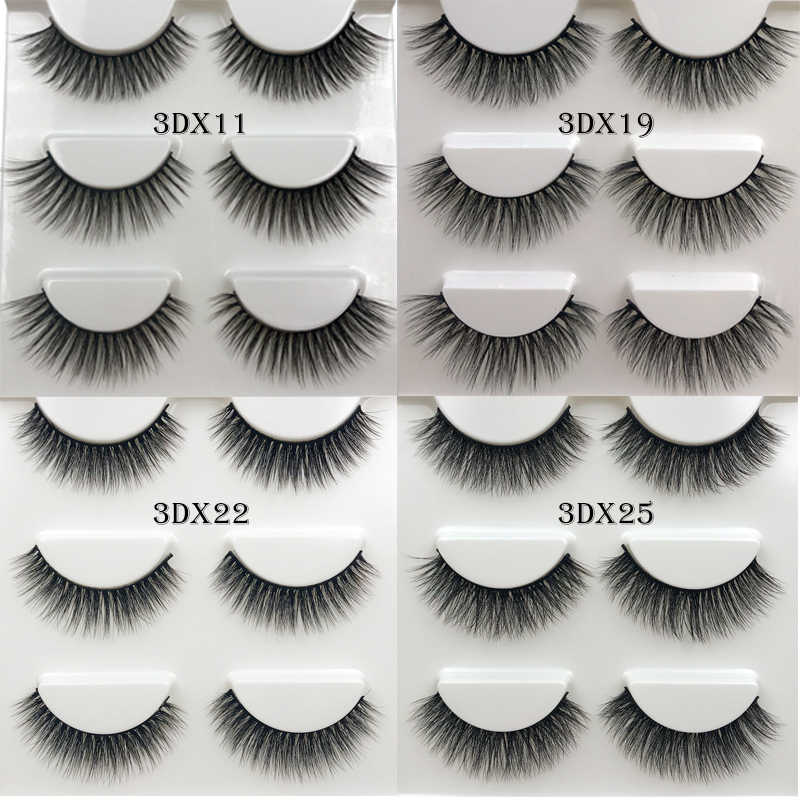 e96fc5b052c 3 Pairs/Box 3D Mink Lashes 100% Thick real Mink False Eyelashes Natural Hand