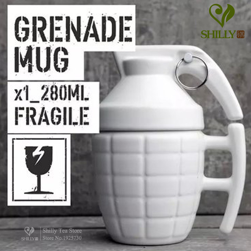 Grenade grenade cup personalized mug cup black and...