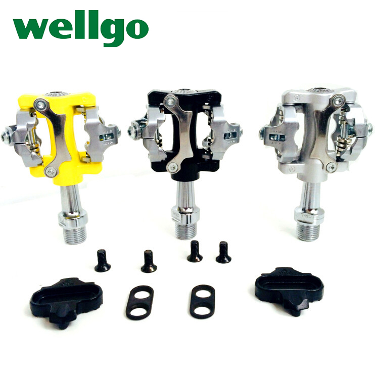 WELLGO W01 Bicycle Peda aluminum alloy road bike pedal mountain bike pedal bicycle parts Folding bike pedal bike lock pedal healthy soho office spinning bicycle super mute household magnetic bike with table back pedal fitness equipment dynamic bike