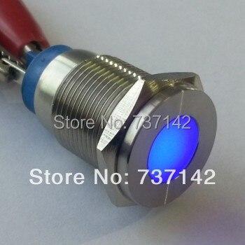 ELEWIND aço Inoxidável lâmpada piloto (PM16F-D/J/B/12 V/S)