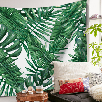Miracille Polyester Tropical Plant Pattern Wall Cloth Hanging Tapestry Wedding Party Gift Bedspread Beach Towel Yoga Picnic Mat 2