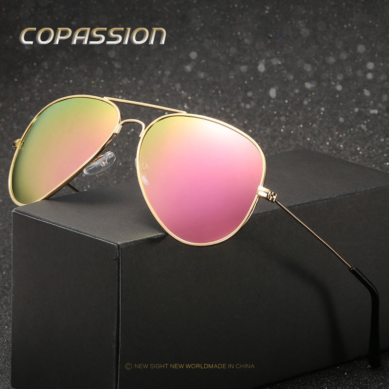 2017 Top quality brand designer polarized sunglasses women men vintage aviation sun glasses feminin new shades oculos de sol