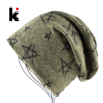 2018 Autumn And Winter Beanie Mens Skullies Bonnet Hat Hip Hop Cap Cotton Pentagram Hats For Men And Women Beanies 1