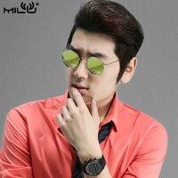 MILU Brand Design Logo Polarized Sunglasses For Men Fishing Outdoor Sports Titanium Oval Goggles Eyewear Accessories ML5026L