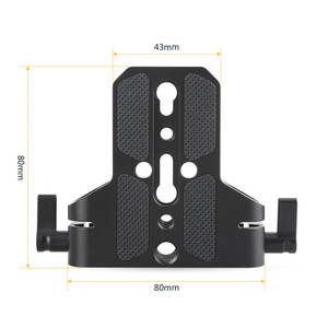 Image 3 - SmallRig Camera Base Plate With Dual 15mm Rod Rail Clamp for Sony FS7/Sony A7 Series/Canon C100/C300/C500/Panasonic GH5   1674