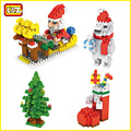LOZ Строительные Блоки Санта-Клауса Рождественские Чулки Рождественская елка Белый Медведь Рождественский Подарок Игрушки для Детей 9 + украшения