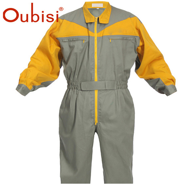 51fbae1bf88b Oubisi denim work jumpsuit mechanic overalls-in Safety Clothing from ...