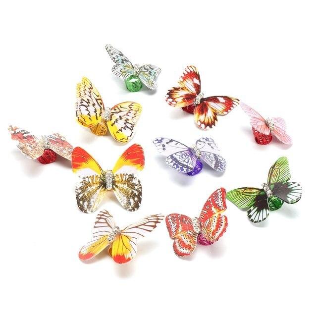 10 unids piezas de colores de mariposa trenza de pelo Dreadlock abalorios  ajustables para el cabello 6a48cb6494af