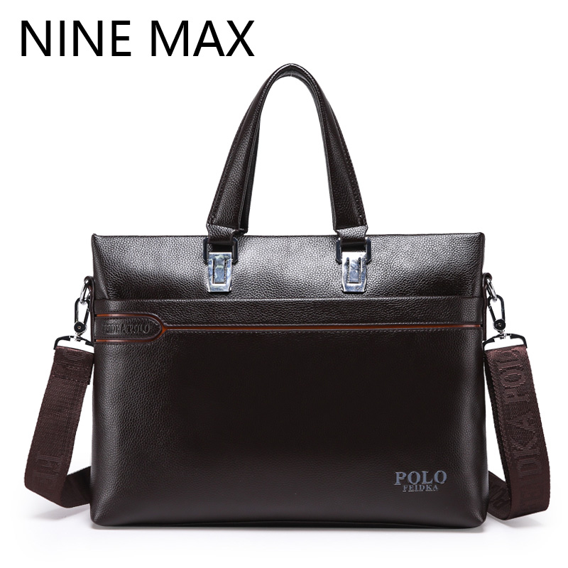 Fashion PU Leather Single Shoulder Messenger Bag Men Vintage High Quality Handbags Casual Business Lapop Briefcase For Male high quality pu leather bag business casual men messenger bags vintage crossbody travel shoulder bag fashion school book bag