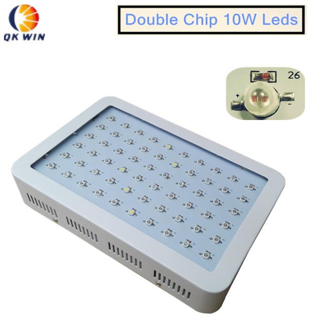 Free shipping 600W/1000W Led grow light built With double chip 10W leds for hydroponics lighting LED plantGrowLight dropshipping