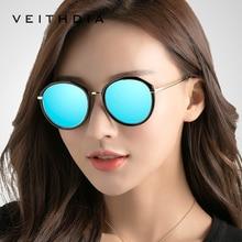 VEITHDIA Acetaat Frame vrouwen zonnebril Gepolariseerde Spiegel Lens Luxe Dames Designer Zonnebril Eyewear Voor Vrouwen oculos 3050
