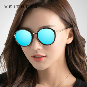 Image 1 - VEITHDIA Acetate Frame Womens Sun glasses Polarized Mirror Lens Luxury Ladies Designer Sunglasses Eyewear For Women oculos 3050