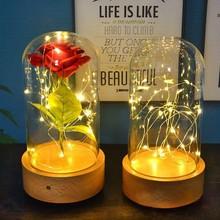 Автоматический поворотный подставка для рисунков мольберт из основа вечный цветок Стекло крышка музыкальная шкатулка Sky City музыкальная шкатулка светодиодный ночной Светильник