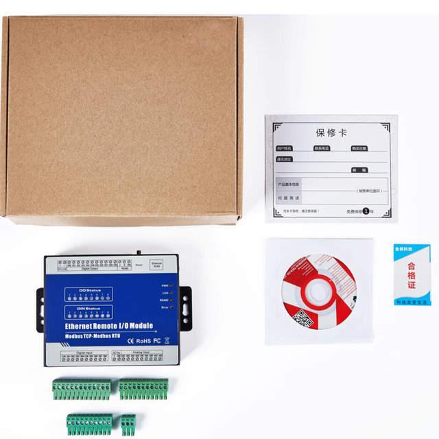 US $220 0 |Modbus TCP Data Acquisition Module Ethernet Remote IO IOT Module  for Modbus RTU meters 16 DIN M410T(16DI+RJ45+RS485)-in Alarm System Kits