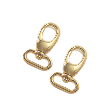 Swivel Snap Hooks, Gold Finish, Lobster Claw, 60 Pieces