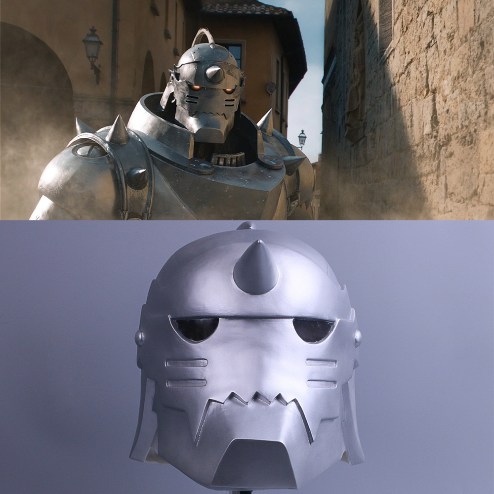 2017 Fullmetal Alchemist Mask Cosplay Alphonse Elric Helmet Halloween Mask PVC (1)