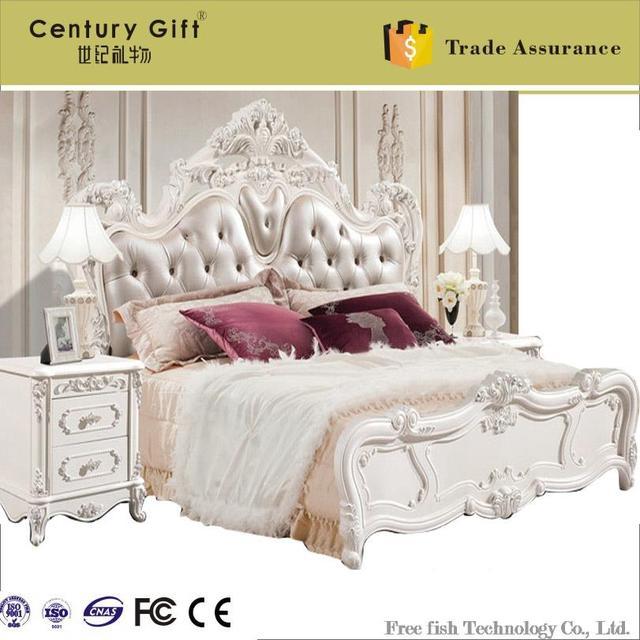 Continental matrimonio cama de madera cama doble cama de princesa de ...