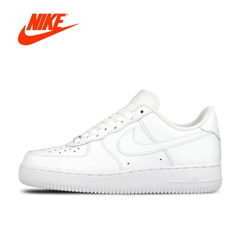 Nuovo Arrivo originale Ufficiale Nike AIR FORCE 1 AF1 Uomini Traspirante Scarpe da pattini e skate
